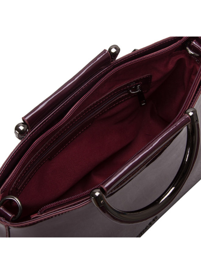 Handbag Aster (burgundy red)