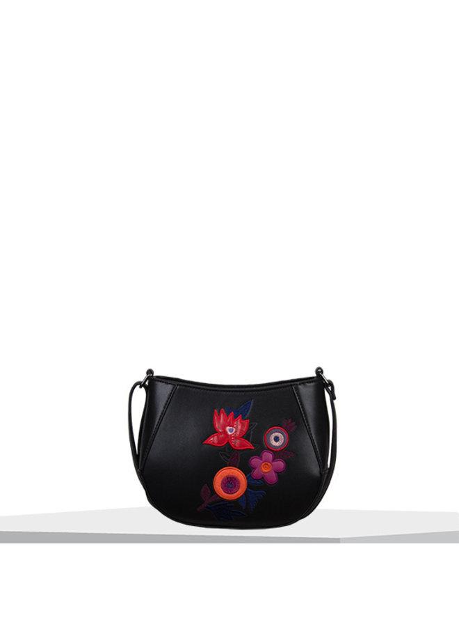 Crossbody bag Bouquet (black)