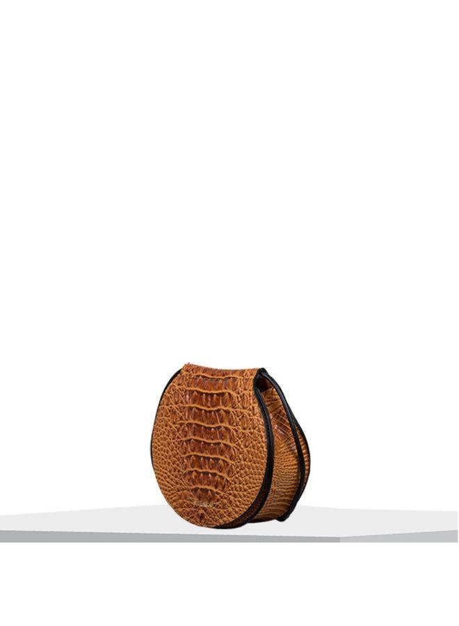 Crossbody tas Lotus (cognac)