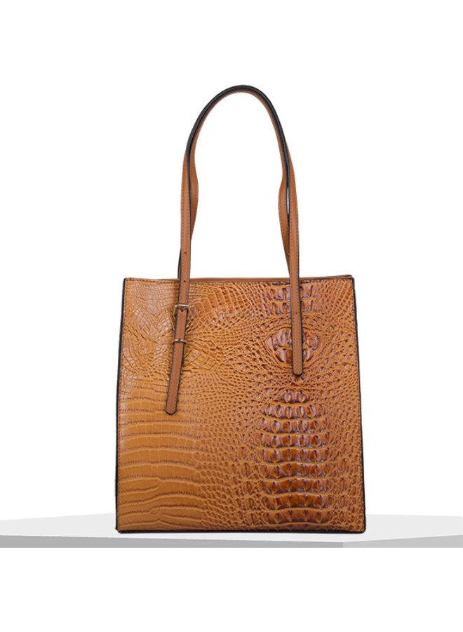 Shopping bag Lotus (cognac)