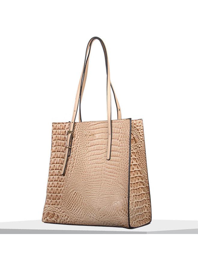 Shopping bag Lotus (camel)