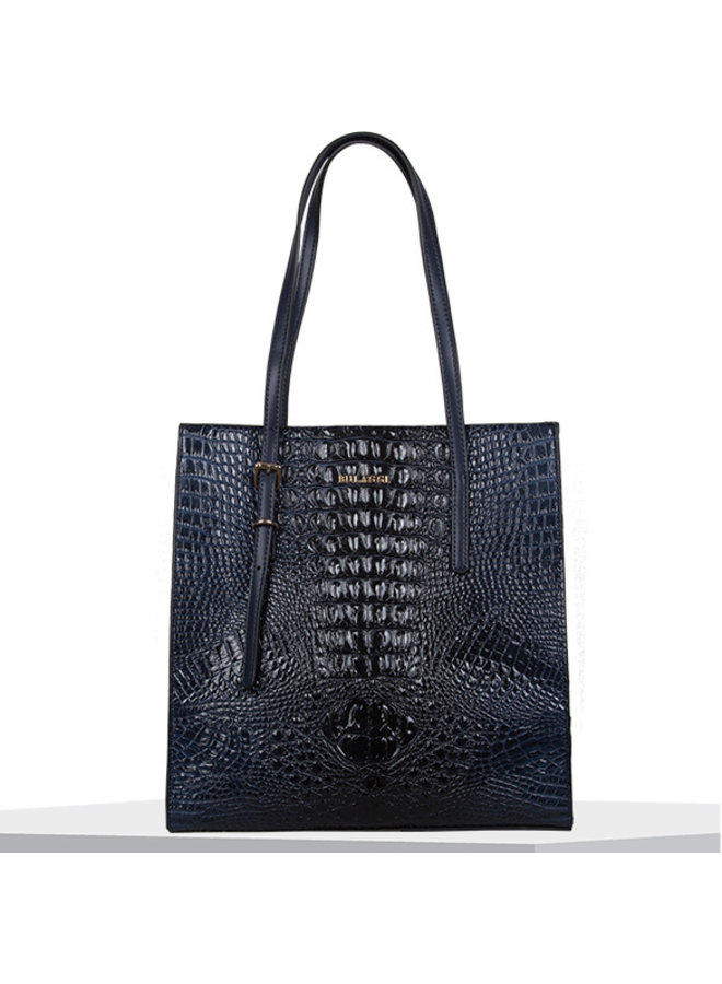 Shopper Lotus (donkerblauw)