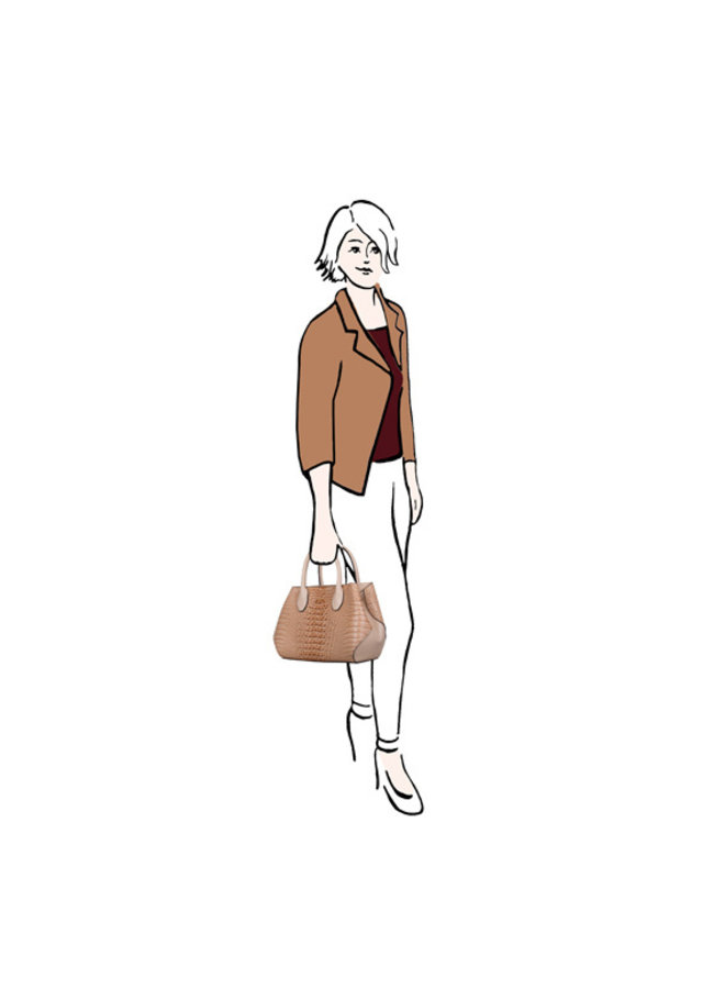 Handbag Lotus (cognac)