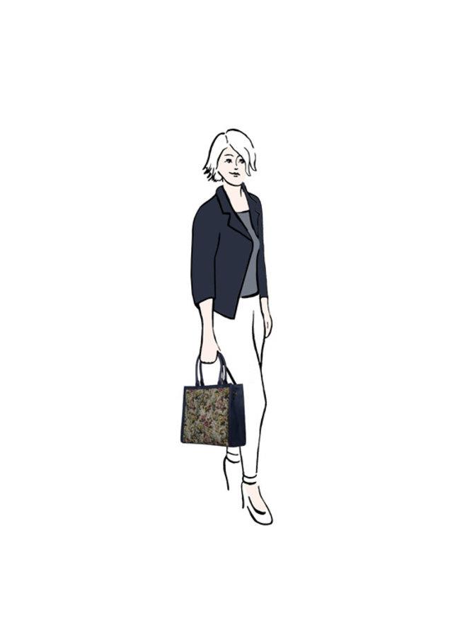 Shopper Goby (donkerblauw)