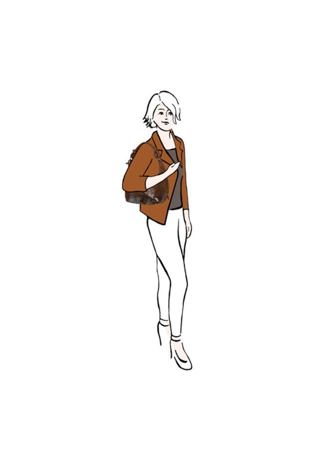 Hobo shoulderbag Flame (cognac)