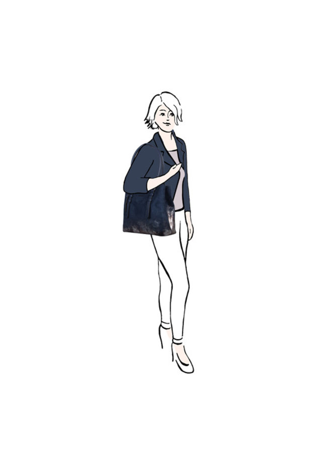Shopper Flame (donkerblauw)
