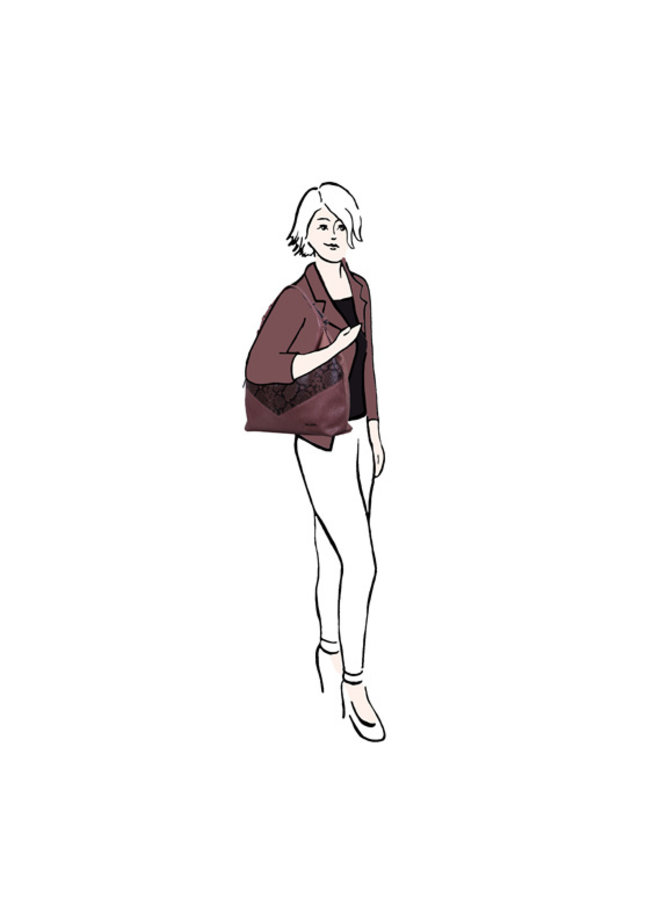 Hobo schoudertas Alice (oud roze)