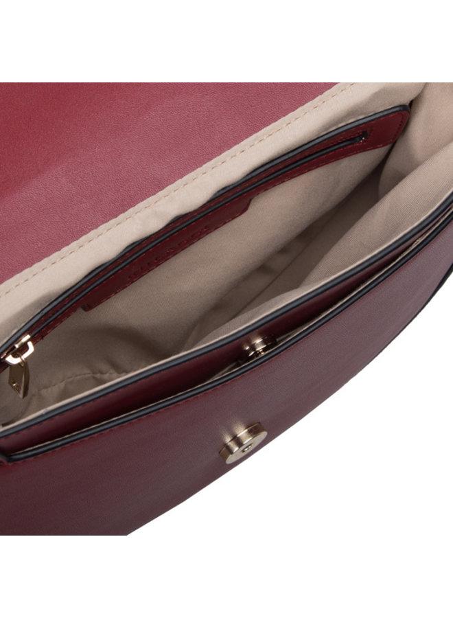 Crossbody bag Chainy (burgundy red)