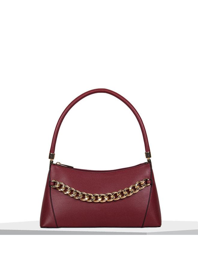 Handbag Chainy (burgundy red)