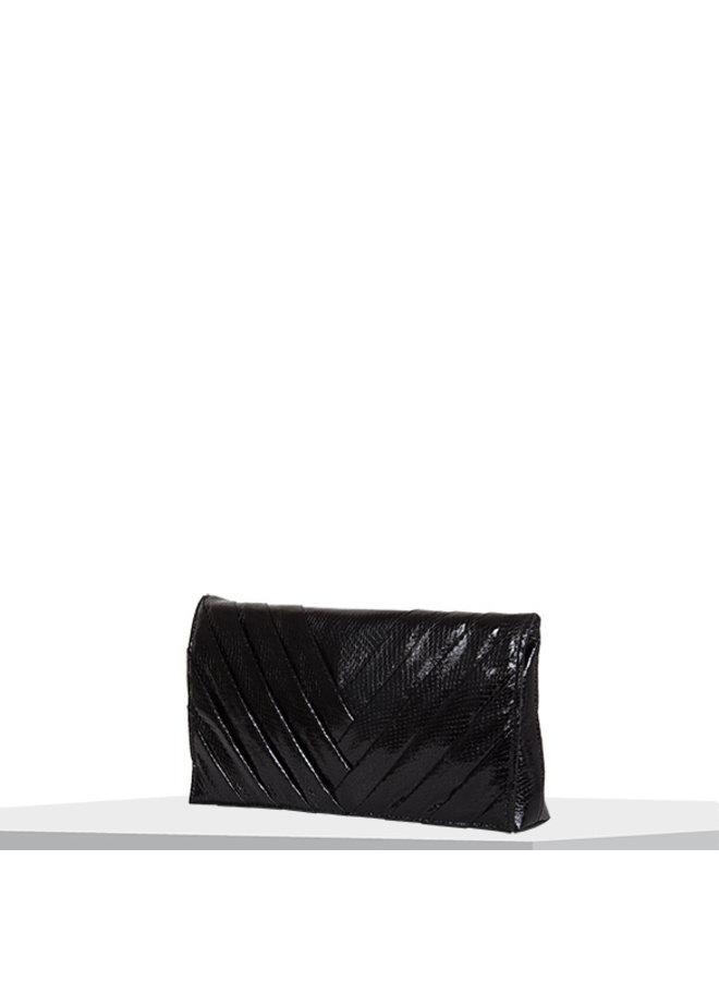 Clutch bag Waterfall (black)