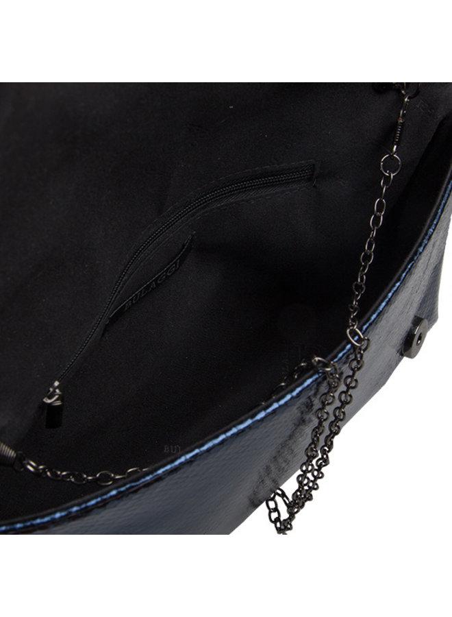 Clutch bag Waterfall (dark blue)