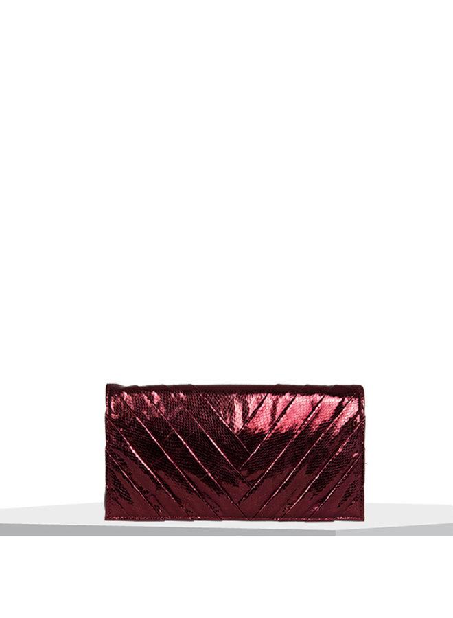 Clutch bag Waterfall (burgundy red)