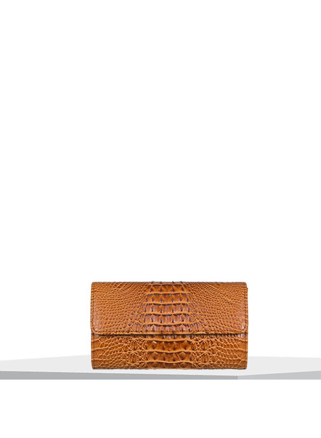 Clutch bag Lotus (cognac)