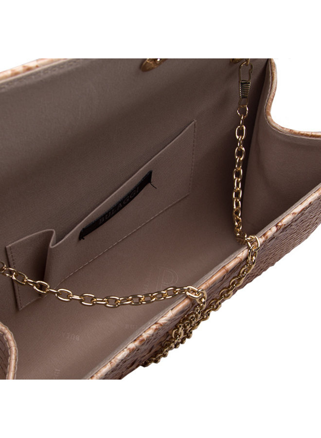 Clutch bag Lotus (camel)
