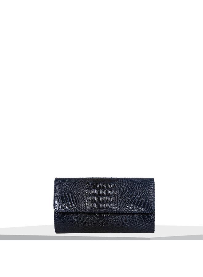 Clutch bag Lotus (dark blue)