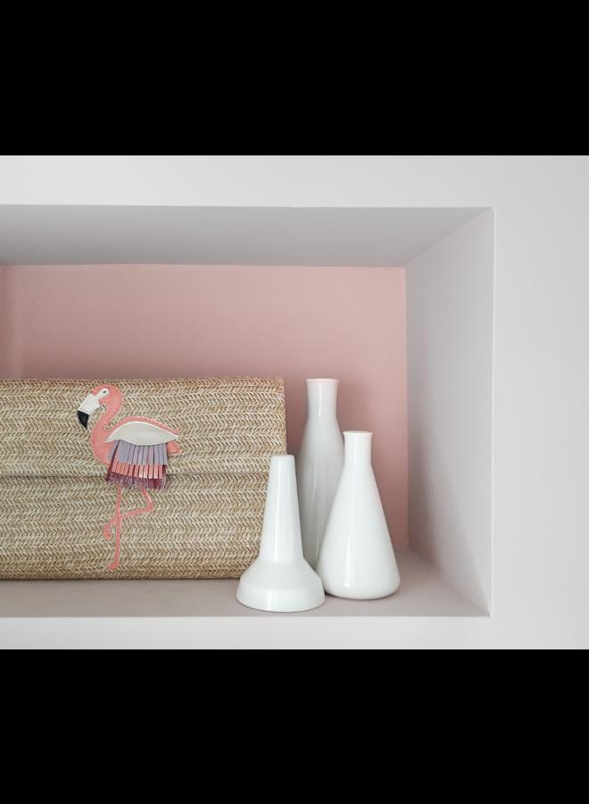 Clutch bag Flamingo (natural)