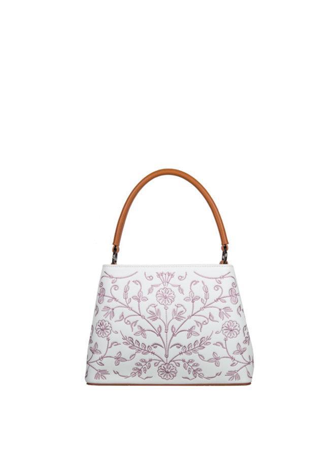 Shoulder bag Embroidery (white)