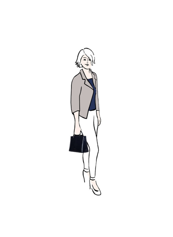 Handbag Aster (dark blue)