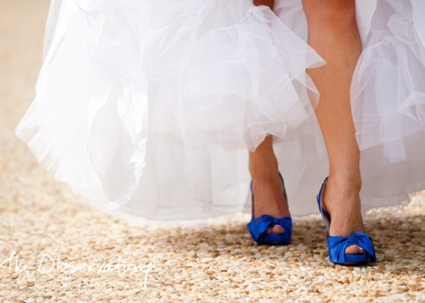 kobaltblauwe pump bruiloft