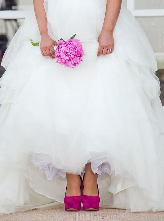 bruid fuchsia roze