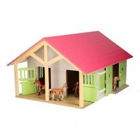 thumb-Paardenstal Roze met 2 Boxen en Berging-1