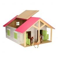 thumb-Paardenstal Roze met 2 Boxen en Berging-3
