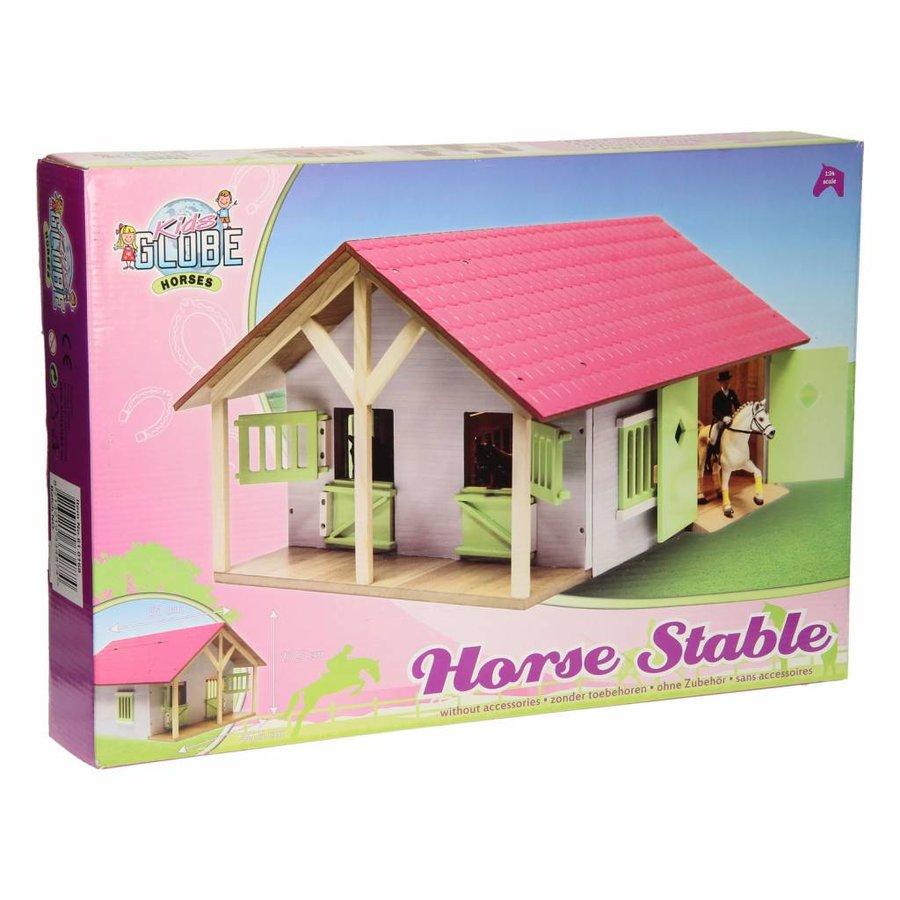 Paardenstal Roze met 2 Boxen en Berging-5