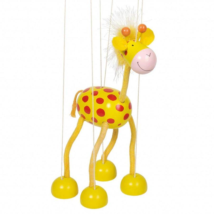 Houten Marionette Giraffe-1