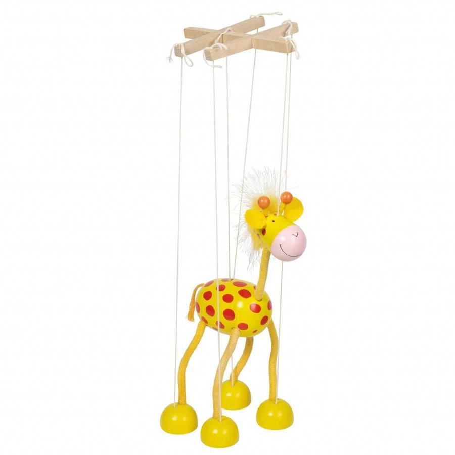 Houten Marionette Giraffe-2