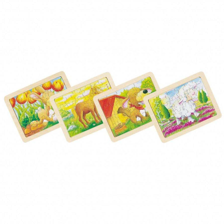 Houten Puzzels Dieren, set van 6-1