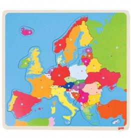 Goki  Houten Puzzel Europa