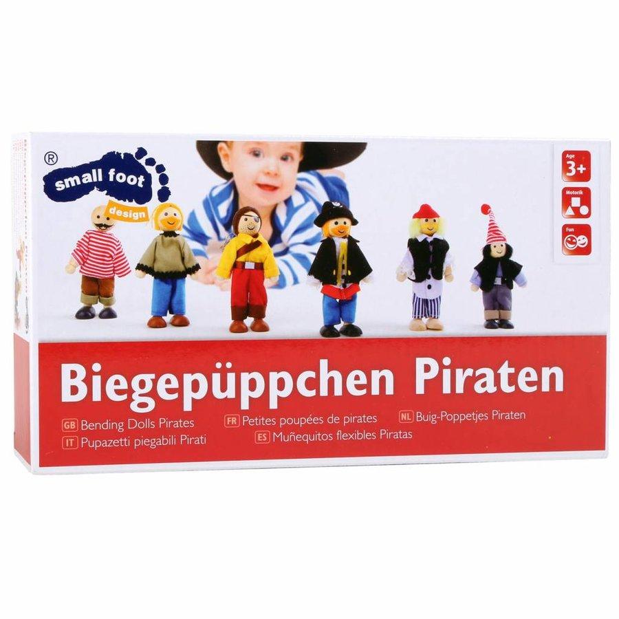 Buigpoppen Piraat, 6dlg.-2