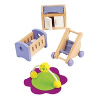 thumb-Hape Poppenhuis Babykamer-1