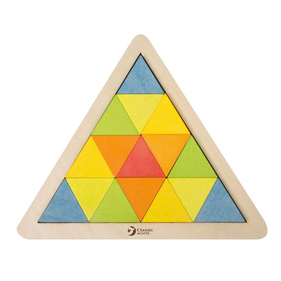 Classic World Houten Mozaïekpuzzel Driehoek, 67st.-2