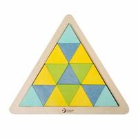thumb-Classic World Houten Mozaïekpuzzel Driehoek, 67st.-3