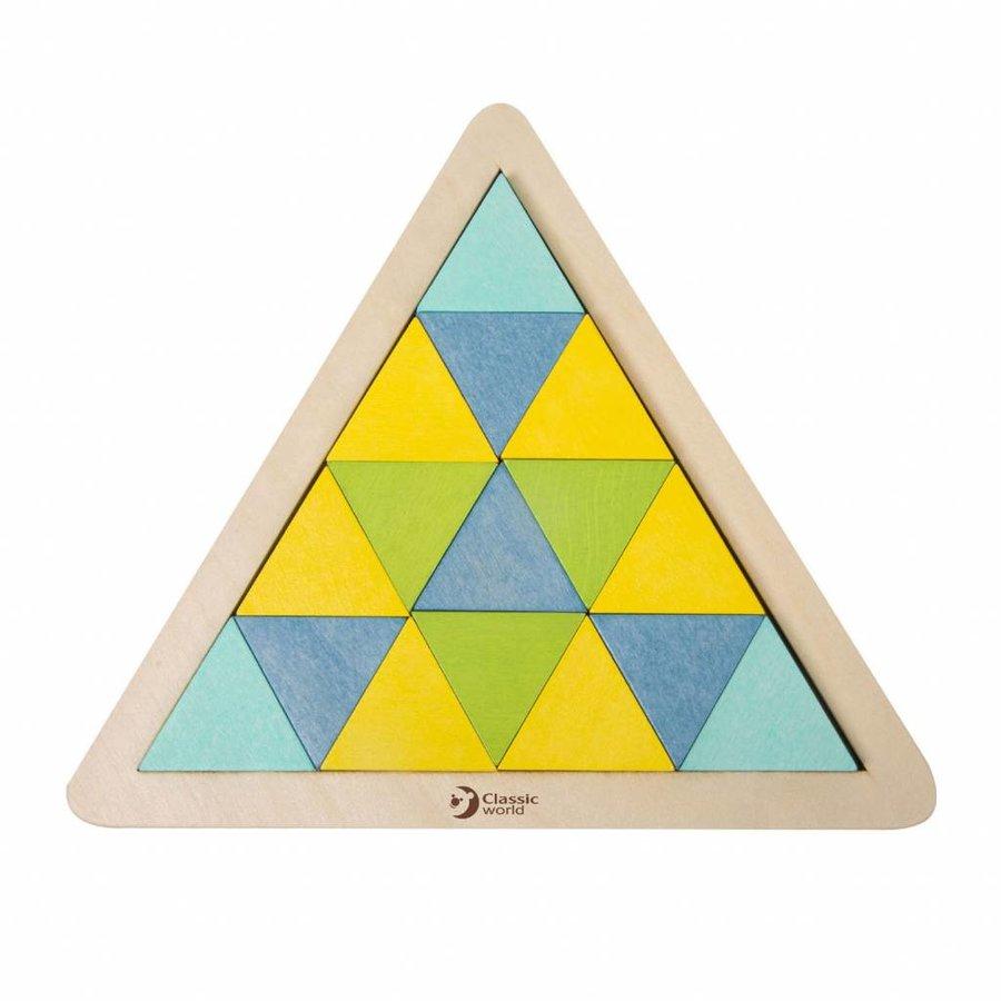 Classic World Houten Mozaïekpuzzel Driehoek, 67st.-3