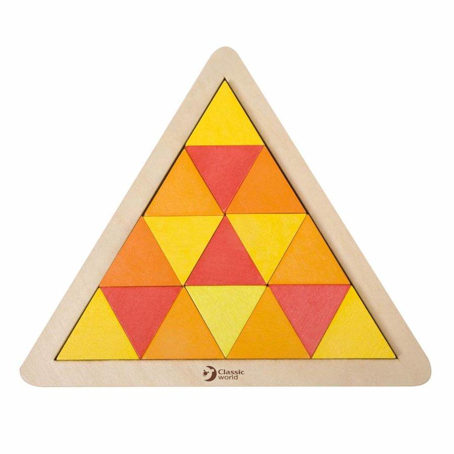 Classic World Houten Mozaïekpuzzel Driehoek, 67st.-6