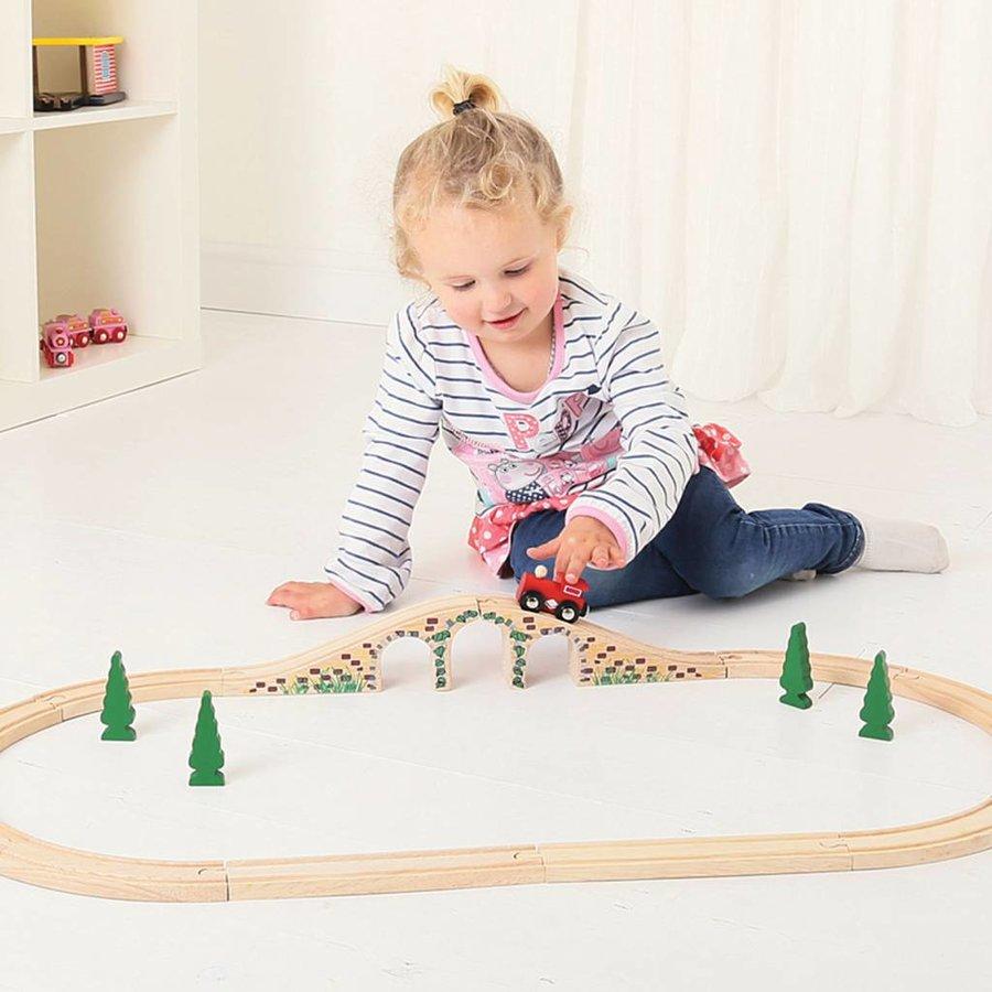 Houten Rails - Brug Met 3 Bogen-3