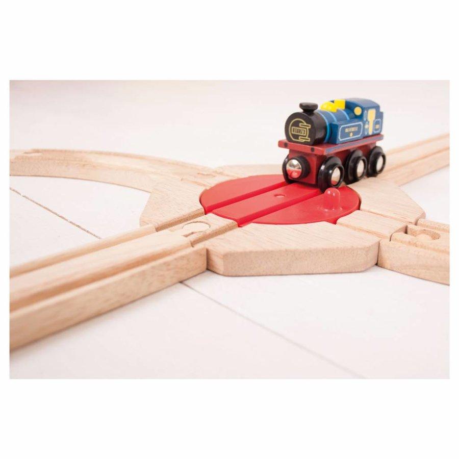 Houten Rails - 4-richting Draaiplateau-2