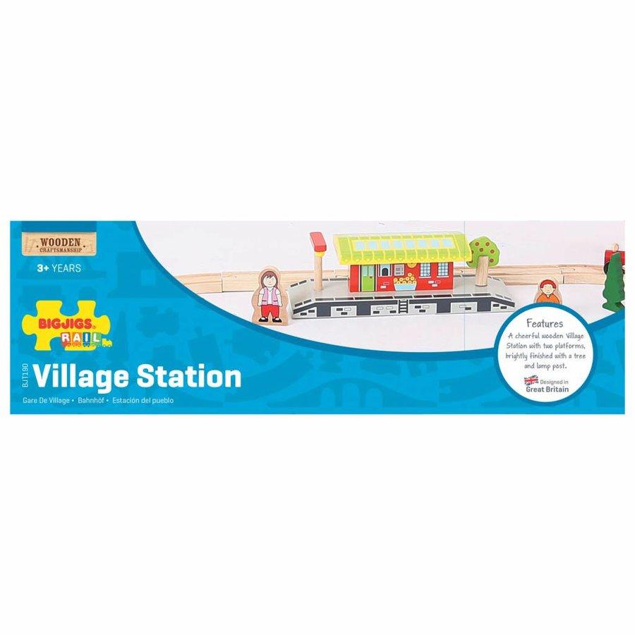 Houten Rails - Dorpsstation-2