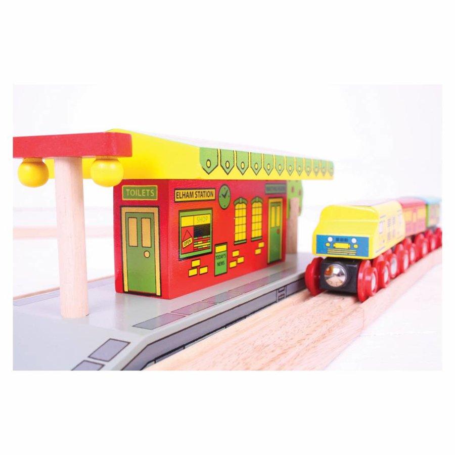 Houten Rails - Dorpsstation-3