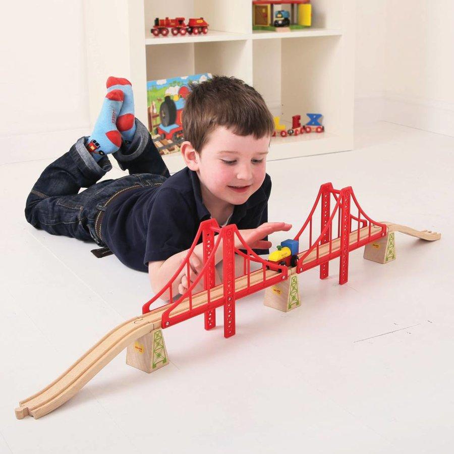 Houten Rails - Dubbele Hangbrug, 7dlg.-3