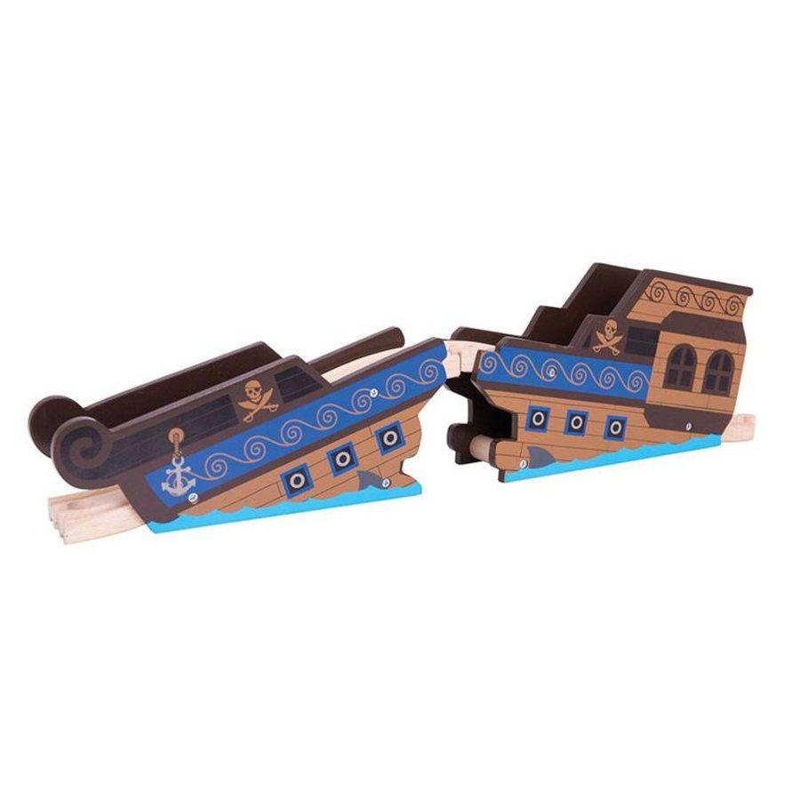 Houten Rails - Brug Wrakstuk-1