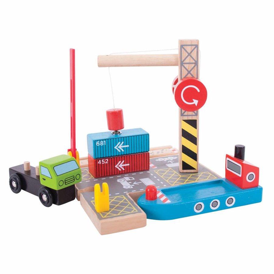 Houten Rails - Container Scheepswerf-1