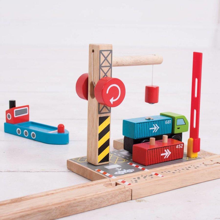 Houten Rails - Container Scheepswerf-5