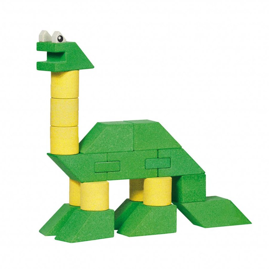 Houten Stapel Dinosaurus, 23dlg.-1