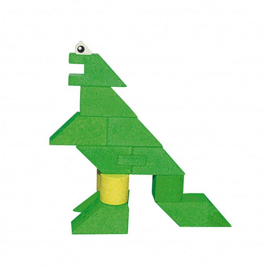 Houten Stapel Dinosaurus, 23dlg.-2