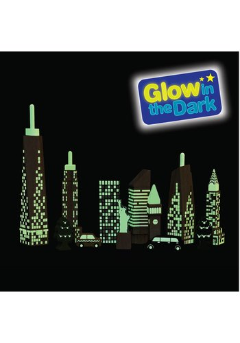 Wonderworld Speelblokken Glow in the Dark - Skyline