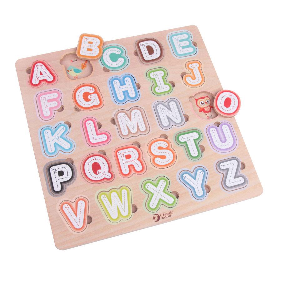 Classic World Houten Puzzel Alfabet, 27st.-2