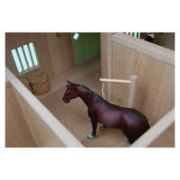 thumb-Kids Globe Paardenhoekstal met 3 Boxen en Berging Roze 1:24-2